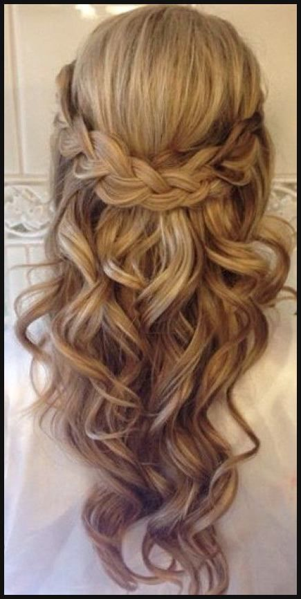 Hairstyle Trends - 20 Amazing Half to Half Below ... | Simple Hairstyles #simple #imaginative #dresses #half #trends