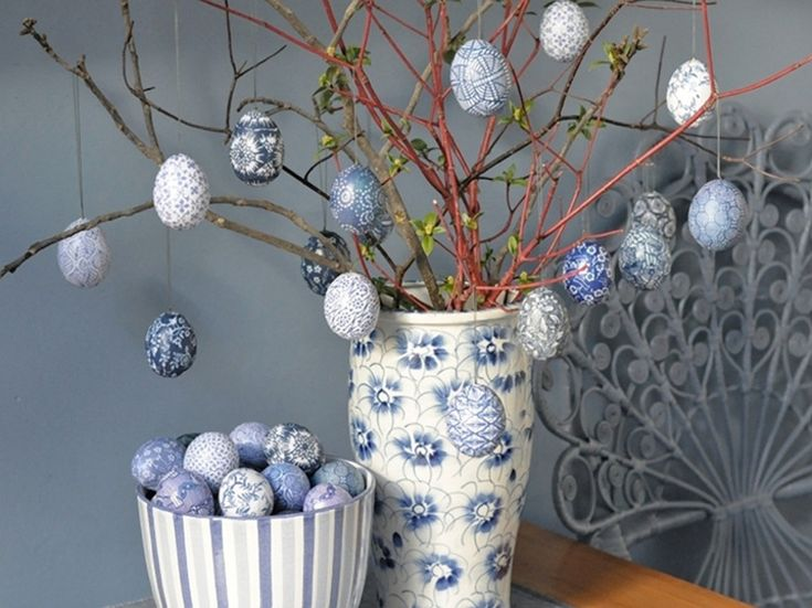 DIY-Anleitung: Gemusterte Eier mit Papier basteln / diy tutorial: colorful, patterned eggs via DaWanda.com