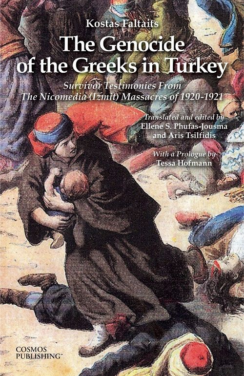 The Genocide of the Greeks in Turkey: Survivor Testimonies from the Nicomedia (Izmit) Massacres of 1920-1921.  A compilation of testimonies collated by renowned journalist Kostas Faltaits from fleeing survivors of the massacres in Izmit with a prologue by historian Tessa Hofmann. In English.  More info: http://amzn.to/2d58wJ6