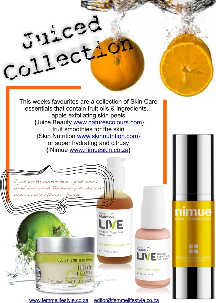 juiced collection #juicebeauty #nimue #skin nutrition