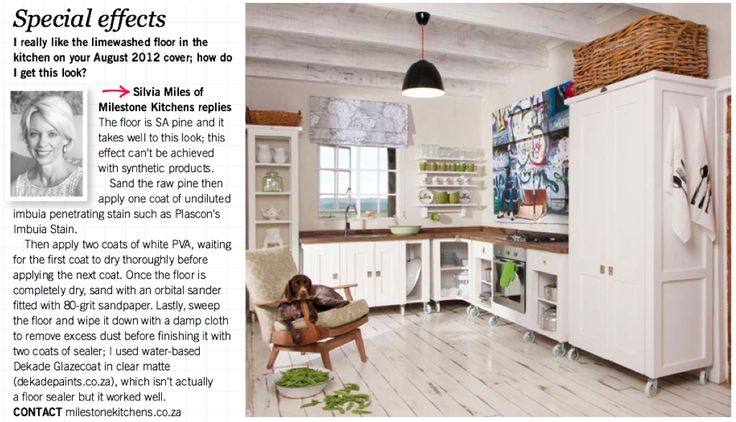 "So you like the ""limewashed"" floor effect? (Home Magazine, August 2016) DIY with some advice from Silvia Miles."