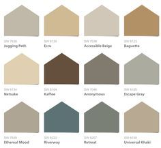 2017 Hgtv Smart Home Paint Colors Sherwin Williams Neutral Nuance Collection