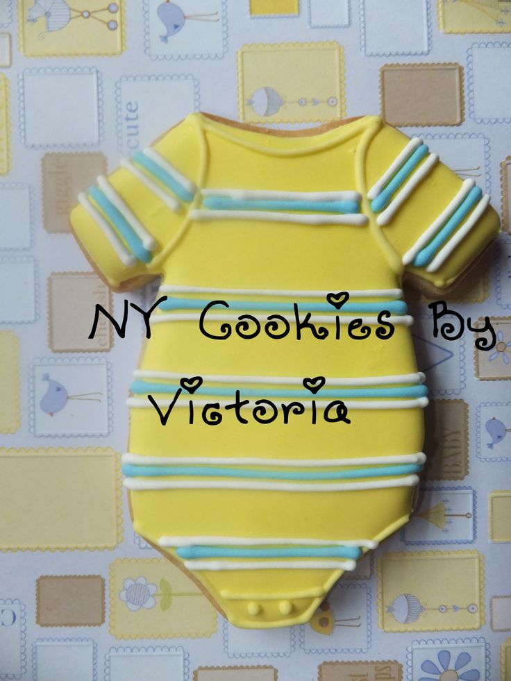 Onesie, see more pictures @ : https://www.facebook.com/pages/NY-Cookies-By-Victoria/390369164337852?sk=photos_albums