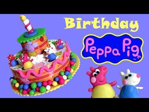 Play Doh Peppa Pig Birthday Cake Dough set Torta de Cumpleaños Bolo de Aniversário  Пластилін NEW