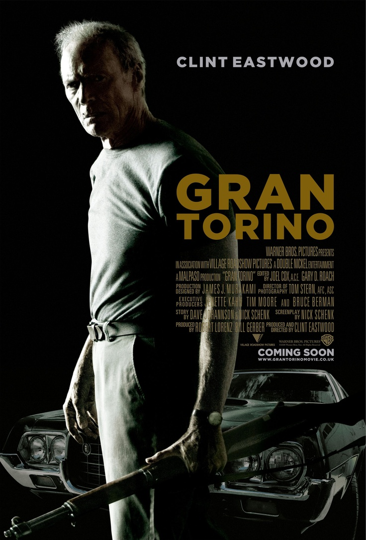 """Gran Torino"" in 2008 directed by Clint Eastwood (San Francisco 1930). American drama film. The story follows Walt Kowalski, a recently widowed Korean War veteran who is alienated from his family and angry at the world. The film, however, was ignored by the Academy of Motion Picture Arts and Sciences at the 81st Academy Awards. In 2010, the film was named Best Foreign Film at the César Awards in France."