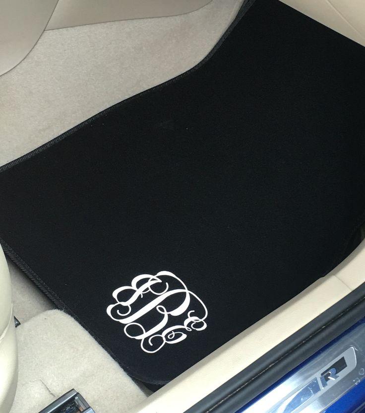 Monogrammed Car Mats #GREATGIFTIDEAS