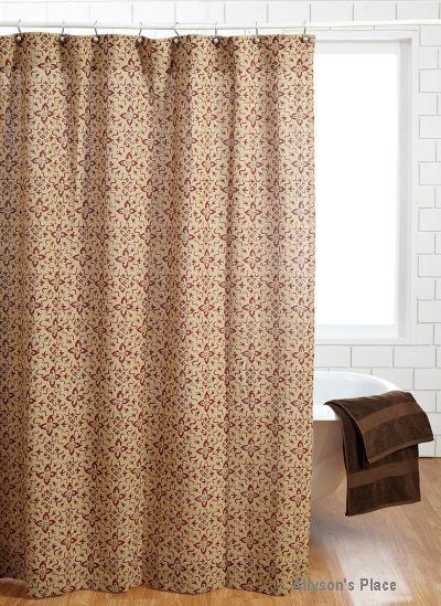Lewiston Shower Curtain Burlap Printed / Like Us On Facebook!  Www.allysonsplace.com