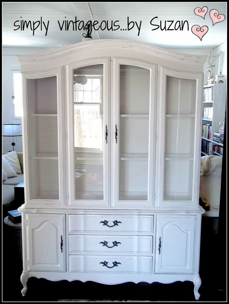 Hutch Makeover, in color Pure White...Chalk Paint® by Annie Sloan