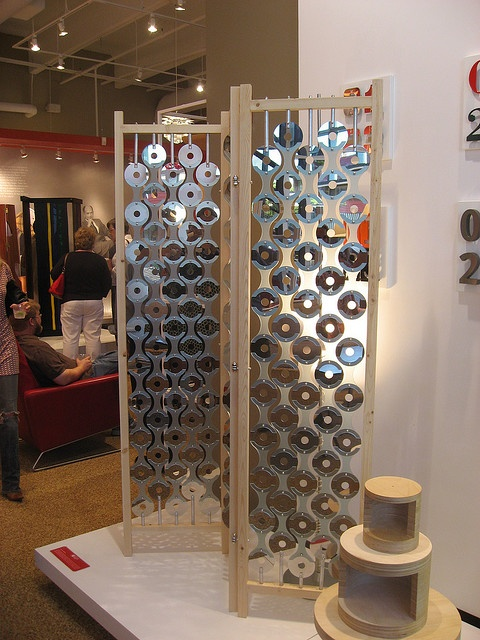 Room Divider made from old CD's.
