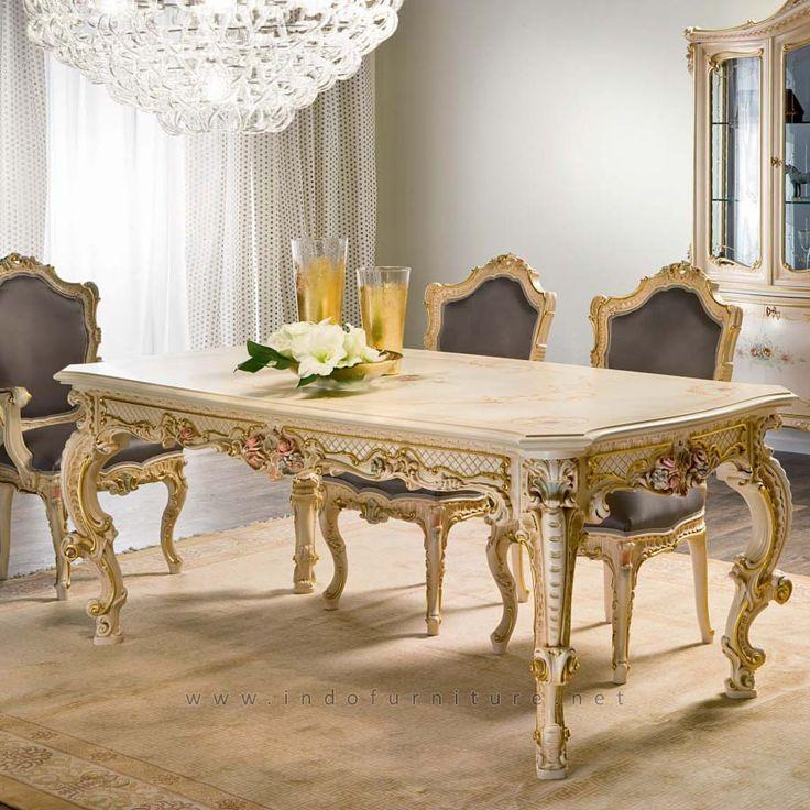 Set Meja Makan Panjang Dafne | Indo Furniture