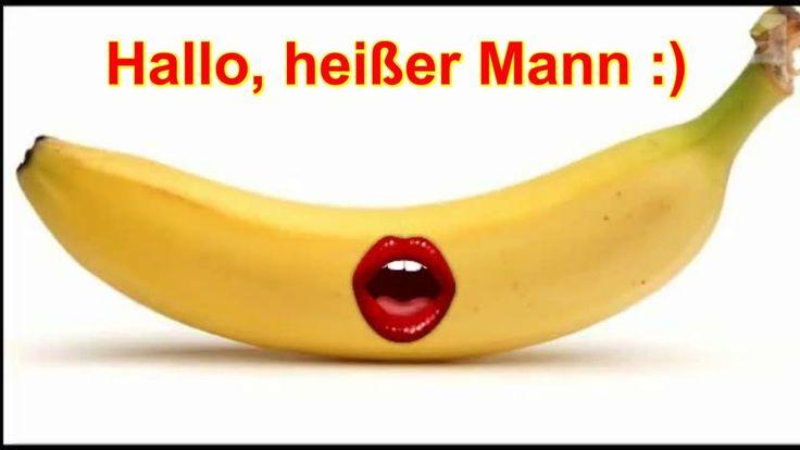 ♥ Videogruß zum #Valentinstag an die #Liebe verschicken ♥ Hallo heißer Mann :) Banane spricht französisch Mund an der Banane :) er...