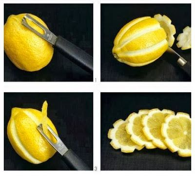 DIY Easy Lemon Flower Garnishing.