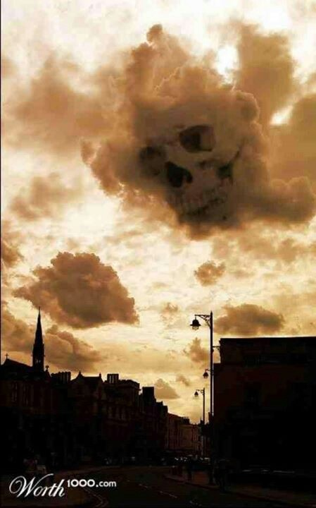 Skull cloud | Awesome things, Scary things, and Quotes ...
