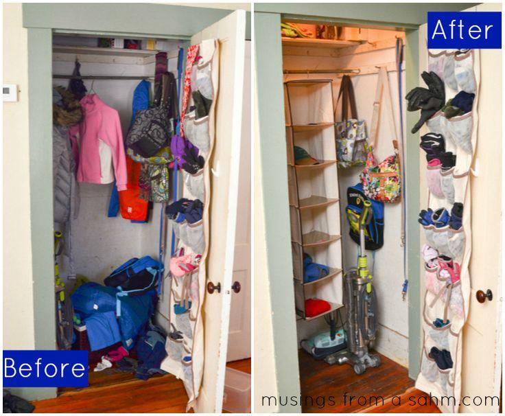 How I Organized Our Coat Closet