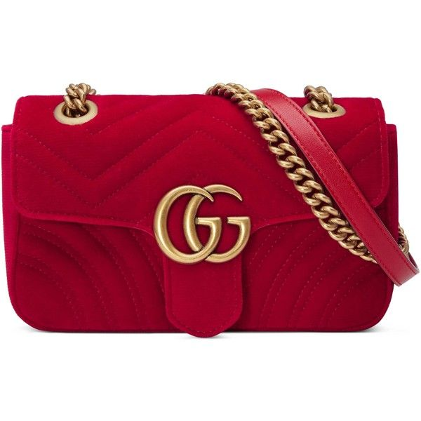 8ea3b732 Gucci Gg Marmont Velvet Mini Bag ($1,425) ❤ liked on Polyvore ...
