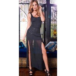 Vestido Negro Largo Abril VL56