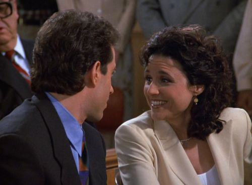 "Jerry:  ""Hey Elaine, what was it you were about to say to me on the plane when it was going down?"" Elaine:  ""I've always loved … United Airlines."""