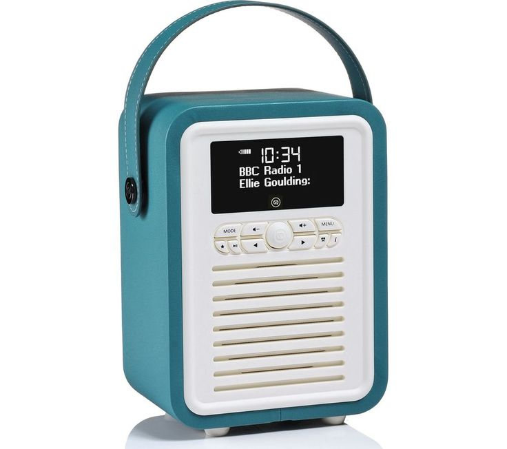 Retro Mini VQ-MINI-TL Portable DAB+/FM Bluetooth Clock Radio - Teal