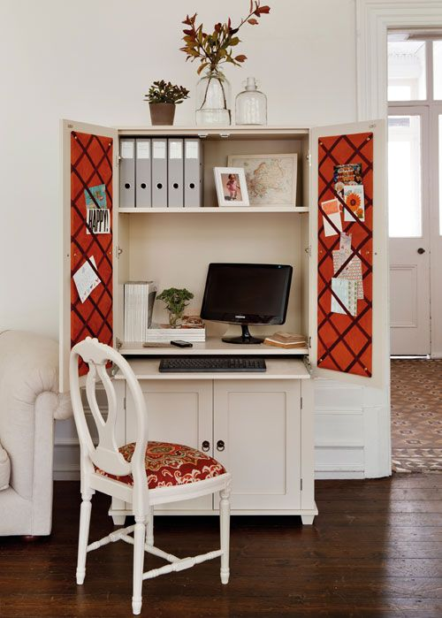 Home Office Ideas: Conceal it in an Armoire   Decorating Files   decoratingfiles.com