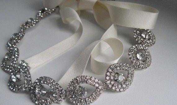 SALE Cordeliavintage glamour crystal by FeathersandFrills on Etsy, $76.00@A Jerk
