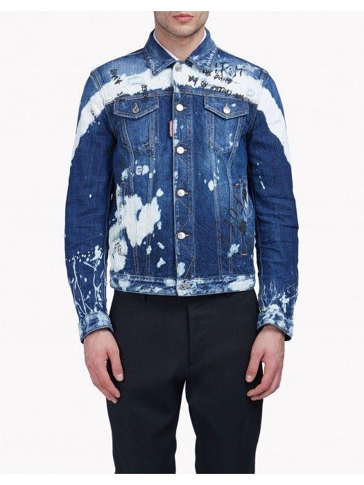 5b8345499 Dsquared2 Bleached Denim Jacket Men #men #jacket #blackfriday #fashion  #menfashion #lifestyle #streetstyle