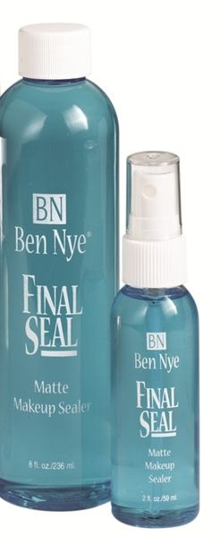 Ben Nye final seal. Sets your makeup all day and smells like spearmint lol.