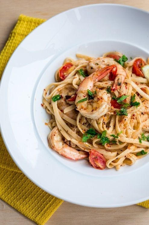 How to make this delicious and simple Chilli Prawn Linguine.