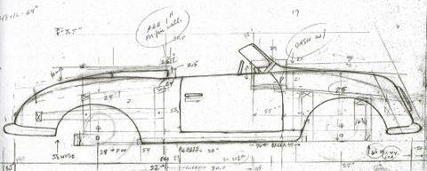 Porsche No1 356 roadster build diagram.