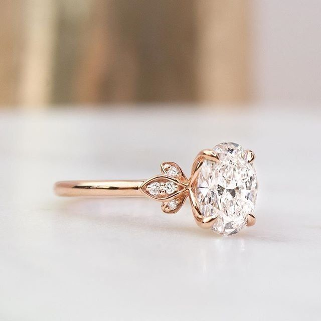 Pear Cut Fiorella Diamond Engagement Ring – 14K Rose Gold (Setting Price)