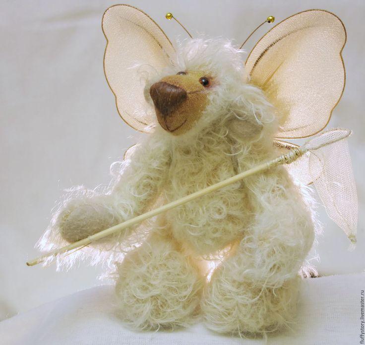 Купить Мишка-тедди почти бабочка - бежевый, мишка тедди, мишка ручной работы