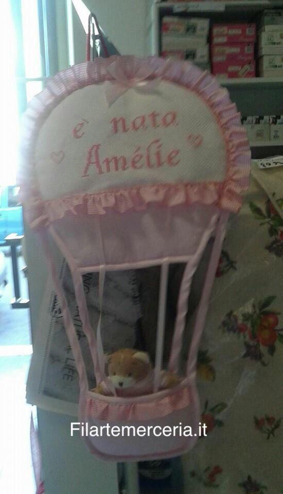 Fiocco nascita personalizzato