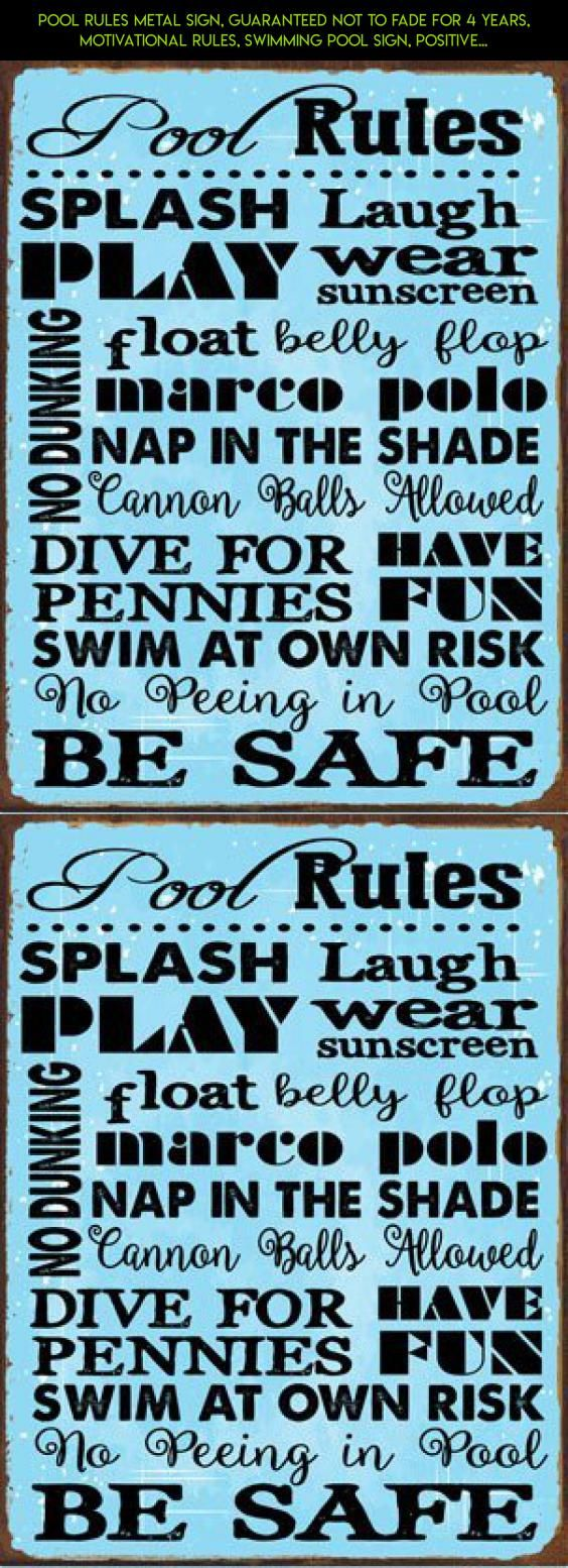 Pool Rules Metal Sign, Guaranteed not to fade for 4 years, Motivational Rules, Swimming Pool Sign, Positive Thinking, Modern Decor #kit #pool #fpv #technology #drone #tech #outdoor #decor #shopping #plans #gadgets #racing #camera #parts #products