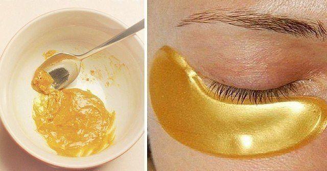 ТЕБЕ ПОНАДОБИТСЯ ● 0, 5 ст. л. куркумы ● 1 ст. л. соды ● пару капель лимонного сока ПРИМЕНЕНИЕ 1. Приготовь кашицу из всех ингредиентов. Если у тебя чувствительная кожа лица, замени лимонный сок тоником или же водой. 2. Нанеси золотую маску под глаза и подержи 15 минут. 3. Умойся прохладной в