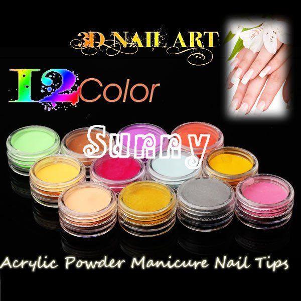 Nail Decoration acrylic powder manicure nail tips Super bright flash Powder For Nail Art Tips M555