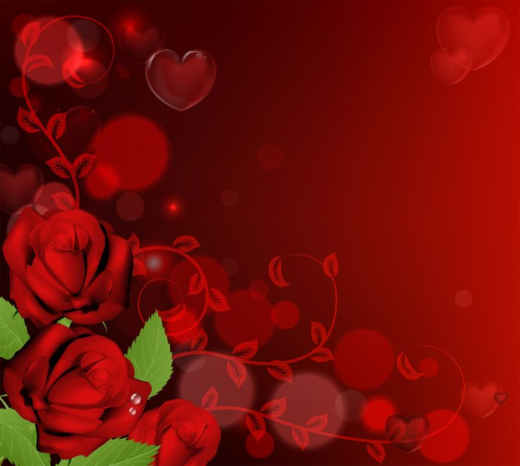 heart and roses background - photo #7