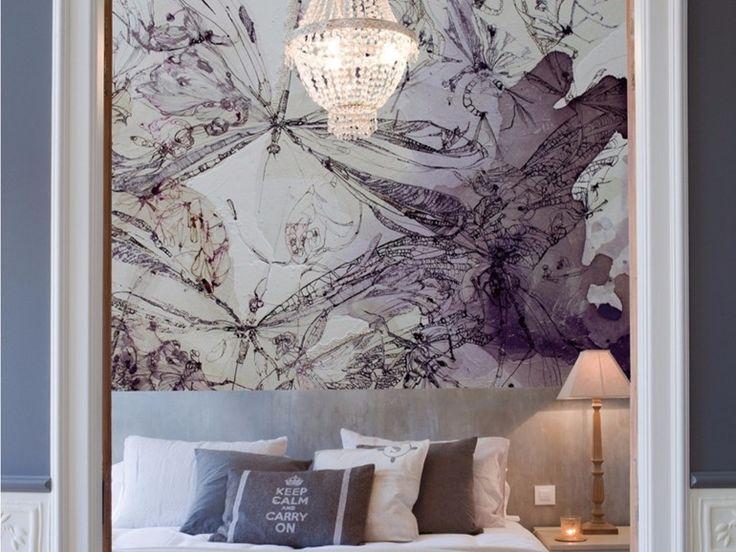 Artistic wallpaper QUESTIONI SERIALI Artists Collection by Inkiostro Bianco design Aura Zecchini