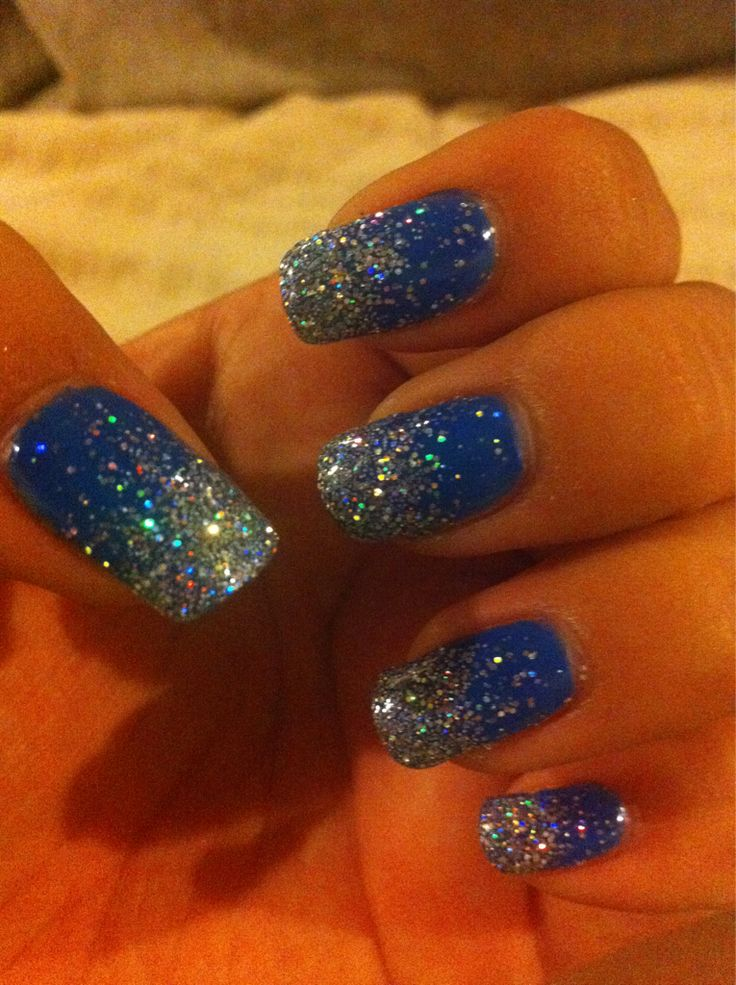 Blue Nail Polish Manicure Designs: 25+ Best Ideas About Sparkly Nails On Pinterest