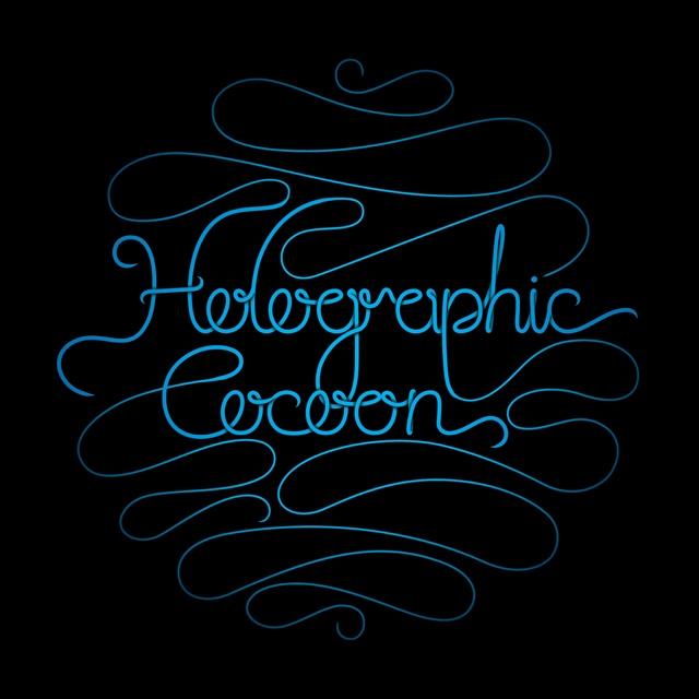 Holographic Cocoon logo type design by Headjam.