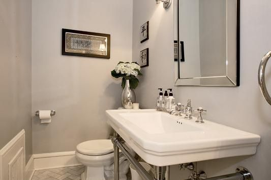 Gray Bathroom Benjamin Moore Wickham Gray I Like The