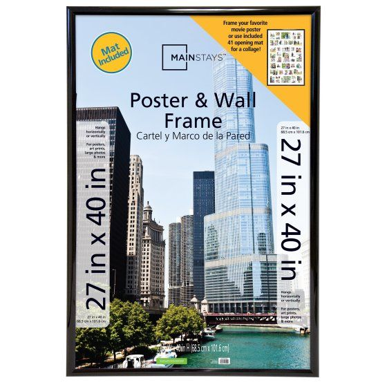 Mainstays 27x40 41 Opening Trendsetter Collage Poster Picture Frame Black Walmart Com Poster Frame Frames On Wall Collage Poster