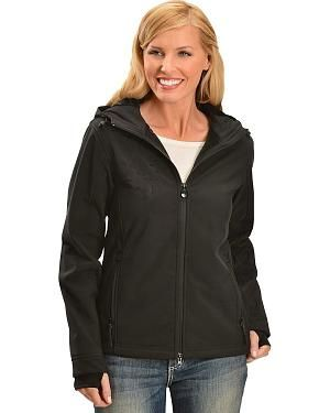 Outback Trading Co. Softshell Water Resistant Jacket: A water & wind resistant jacket for her by… #CowboyClothing #Westernwear #CowgirlBoots