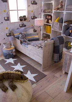 adorable toddler room. Want those shelves!