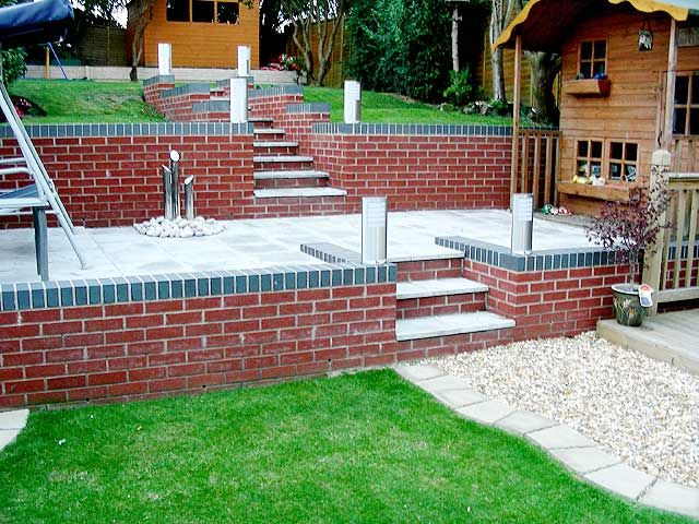 Retaining Wall with steep gradient | MR Builders