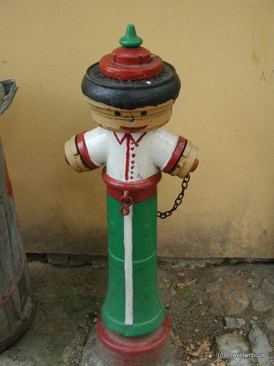 Funny fireplug in Tabor, Czech Republic