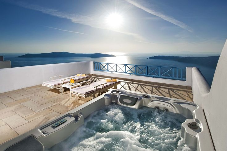 Enjoying a privileged location in Imerovigli, on the very tip of Santorini's caldera, the Absolute Bliss hotel combines stylish romantic interiors with traditional Greek hospitality and jaw-dropping views of the glittering Aegean and the volcanic islands peppered around.