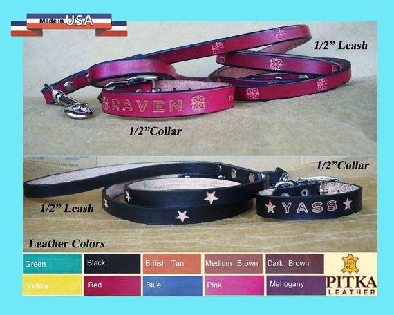 Puppy Collars and Leashes - Custom made Puppy collars and matching Puppy Leashes…