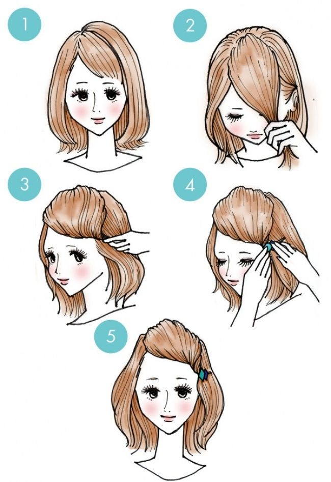 penteados básicos franja com acessório
