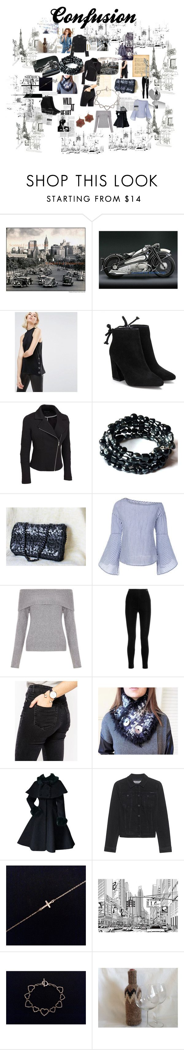 """""""Confusion"""" by mariliart on Polyvore featuring BMW, Cheap Monday, New Look, Balmain, ASOS, Calvin Klein Jeans, Marc Jacobs and plus size clothing"""