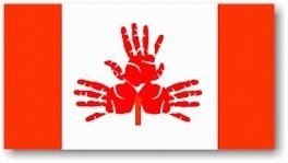 HANDPRINT CANADA DAY FLAG
