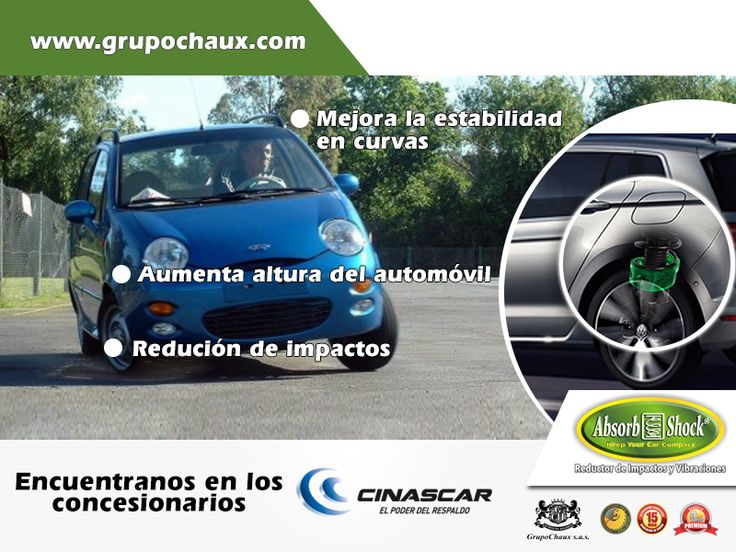 VISITA TU CONCESIONARIO FORD Y ADQUIERE TUS ABSORB SHOCK® Complemento para la Suspensión de tu Vehículo. *Bogota: Casa Toro - Cra. 15 # 97-49 / Casa Toro San Fdo. - Cra. 57 # 72-24 *Villavicencio: Casa Toro - KM1 anillo vial Via acacias *Cali: Motovalle - Calle 26 # 1-71 / Vehivalle - Av. pasoancho # 68-13...